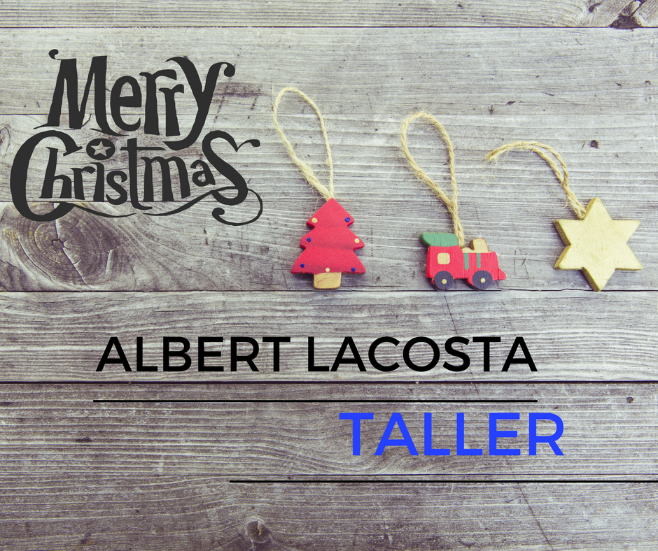 Albert Lacosta Taller os desea Feliz Navidad!
